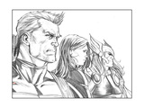 Avengers Assemble Pencils Featuring Hawkeye  Black Widow  Thor