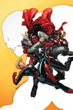 Red She-Hulk 60 Cover Featuring Red She-Hulk  Thor  Iron Man  Captain Marvel