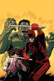Indestructible Hulk 10 Cover Featuring Daredevil  Hulk  Bruce Banner