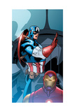 Avengers Assemble Panel Featuring Captain America  Iron Man