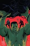 Indestructible Hulk 9 Cover Featuring Hulk  Daredevil  Murdock  Matt