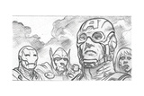 Avengers Assemble Pencils Featuring Iron Man  Captain America  Thor  Black Widow