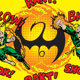 Marvel Comics Retro Pattern Design Featuring Iron Fist