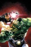 Indestructible Hulk 2 Cover Featuring Iron Man  Hulk
