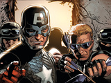 Avengers Assemble Panel Featuring Captain America  Hawkeye