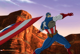 Avengers Assemble Animation Still Featuring Captain America