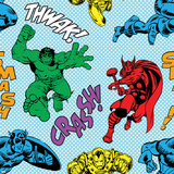 Marvel Comics Retro Pattern Design Featuring Thor  Iron Man  Hulk  Captain America