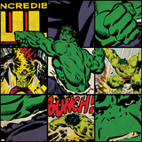 Marvel Comics Retro Badge Featuring Hulk