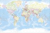 Carte du monde Giclée par The Vintage Collection