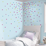 Multi Glitter Confetti Dots Peel And Stick Wall Decals
