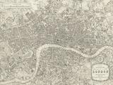 A Plan of London, 1831 Giclée par Samuel Lewis