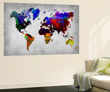 World Watercolor Map 12