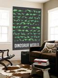 Dinosaur Poster Green