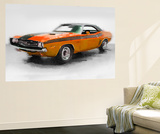 1968 Dodge Challenger Watercolor