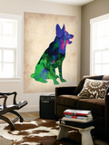 German Sheppard Watercolor