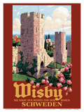Wisby  Schweden (Visbey  Sweden) - The City of Ruins and the Roses