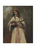 Gypsy Girl with Mandolin  c1870