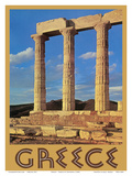 Greece - Temple of Poseidon at Cape Sounion