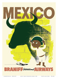 Mexico - Bull and Boy Matador - Braniff International Airways