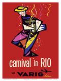 Carnival in Rio - Rio de Janeiro  Brazil - via Varig Airlines