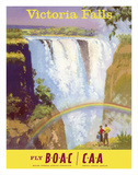 Victoria Falls  Zimbabwe - Fly BOAC (British Overseas Airways Corporation)