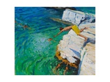 Detail of Jumping into the Sea  Plates  Skiathos  2015