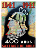 1541 to 1941 - 400 Year Anniversary of Santiago  Chile - Conquistador