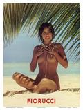 Fiorucci - Nude Girl on Beach