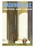 Washington DC - Lincoln Memorial - United Air Lines