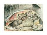 Illustrations to Dante's 'Divine Comedy'  Cerberus