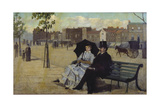 Walter Greaves and Alice Greaves on the Embankment