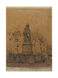 Sketch for 'The Statue of Duquesne  Dieppe'