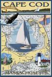 Cape Cod  Massachusetts Chart & Views