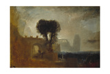 Archway with Trees by the Sea; Sketch for 'The Parting of Hero and Leander'