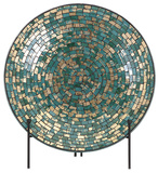 Glacier Mosaic Charger and Stand