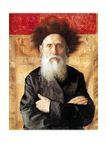 Portrait of a Rabbi before Torah Curtain