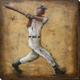 Baseball - Dimensional Metal Wall Art