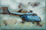 Helicopter - Dimensional Metal Wall Art