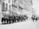 Squad of Mounted Police  New York