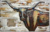 Longhorn II - Wood & Metal Wall Art