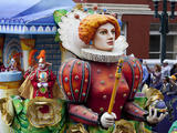 Queen Float in Mardi Gras Parade