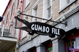 Gumbo File Alligator Sign