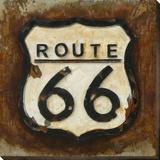 Route 66 - B/W - Dimensional Metal Wall Art