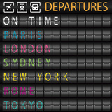 Departures Temperd Glass Wall Art