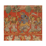 Krishna Dancing with Gopis in Vrindavan