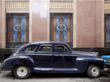 Vintage Car Parked Next to the Bacardi Rum Building in Havana  Cuba