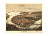 Birds Eye View of Boston - 1877