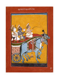 Krishna and Balarama Being Driven by Akrura to Mathura
