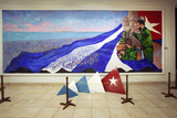 Oil Painting of Fidel Castro at a Revolution Museum in Havana  Cuba