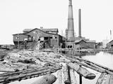 Dead River Saw Mill  Marquette  Mich